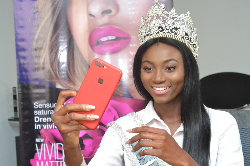 Miss Universe Ghana 2017 Receives Her Official Make-up Package From Maybelline