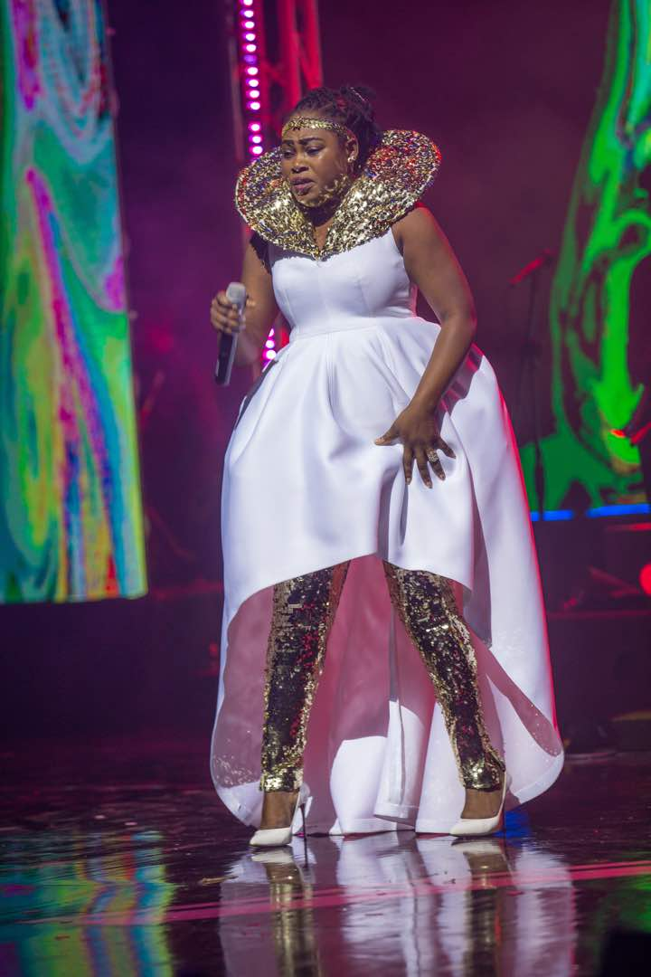 A 360 look at Joyce Blessing's gown at #BeccaAt10Concert