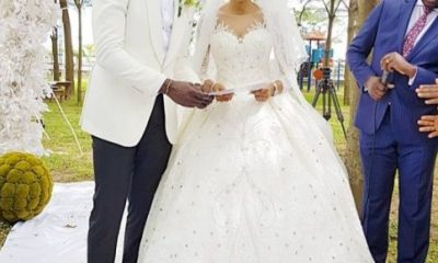 Yomi Casual and Grace Onuoha's white wedding took place in Lagos