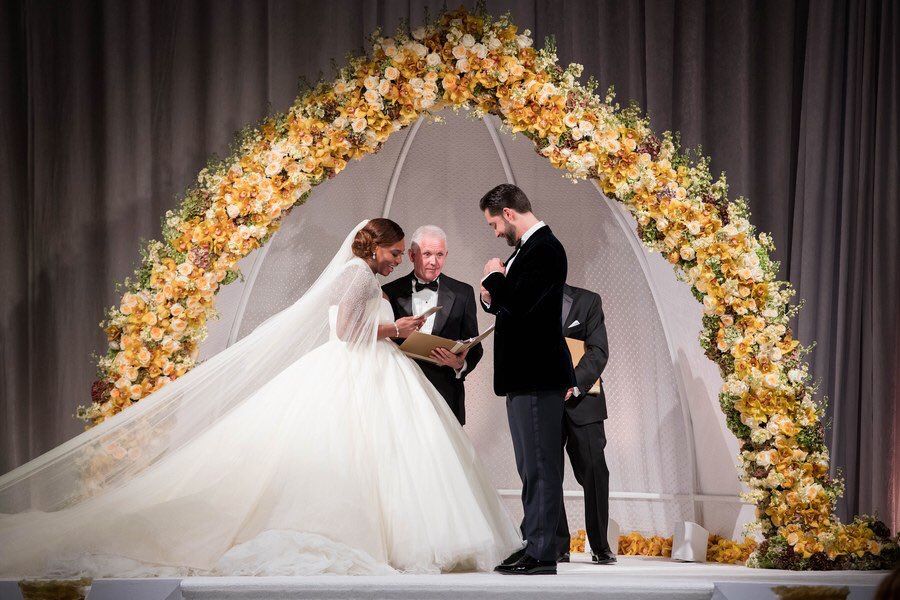 16326m wedding dress photos from serena williams and