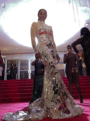 Nana Akua Addo slays in mirror dress and wins Best Dressed Celebrity in Africa at Abryanz Style and Fashion Awards