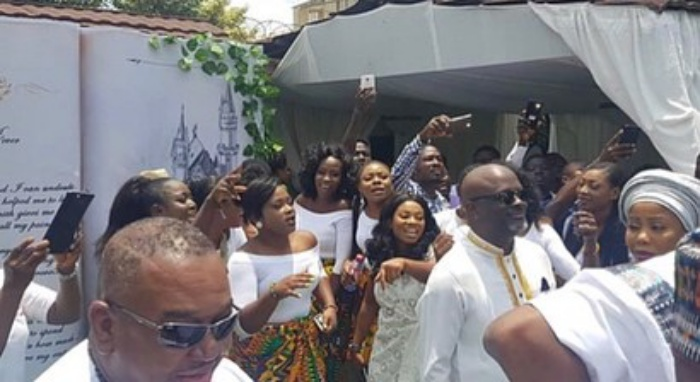 Becca's ex-manager, Kiki Banson spotted at her wedding