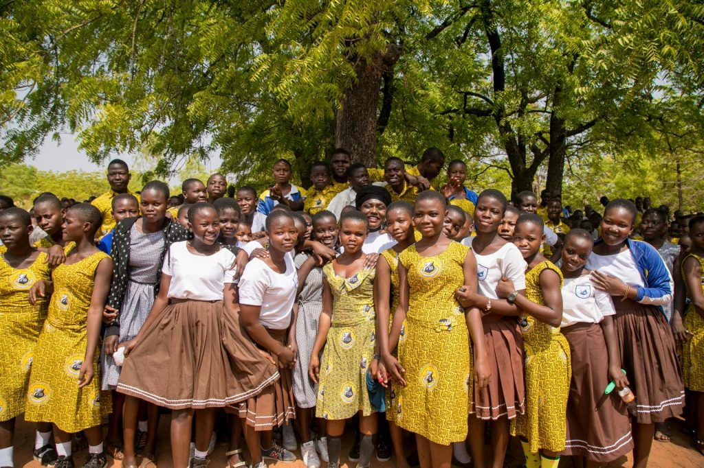 Dentaa MBE with students of Tolon SHS