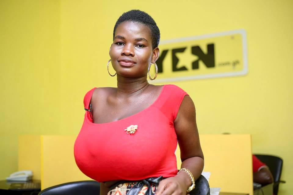 Photos: Meet the 22-year-old Ghanaian model trending for her big 'melons'