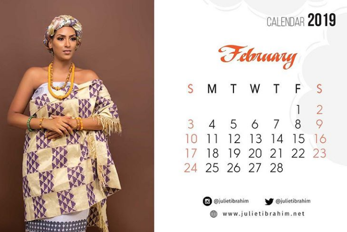 Photos: Juliet Ibrahim shares traditional themed photos for her 2019 calender.