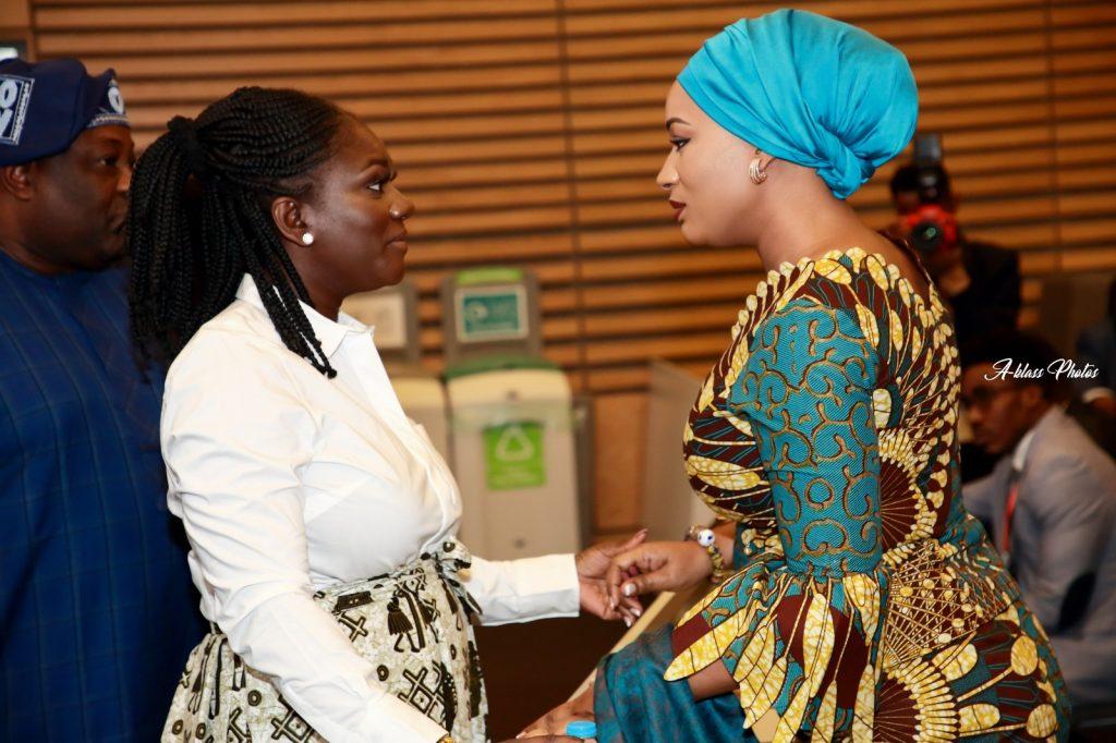 Dentaa Amoateng MBE with 2nd Lady of the Republic of Ghana, Hajia Samira Bawuia
