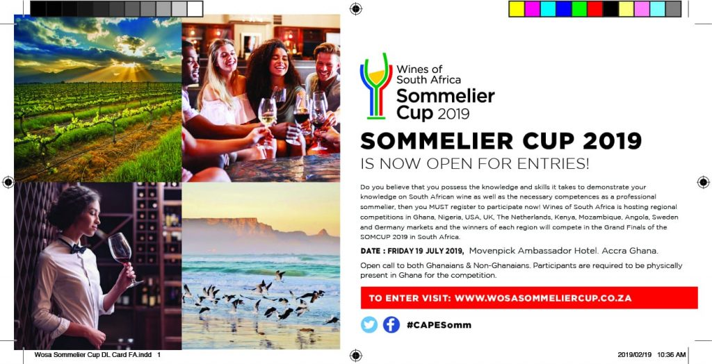 Represent Ghana at the 2019 Sommelier Cup competition