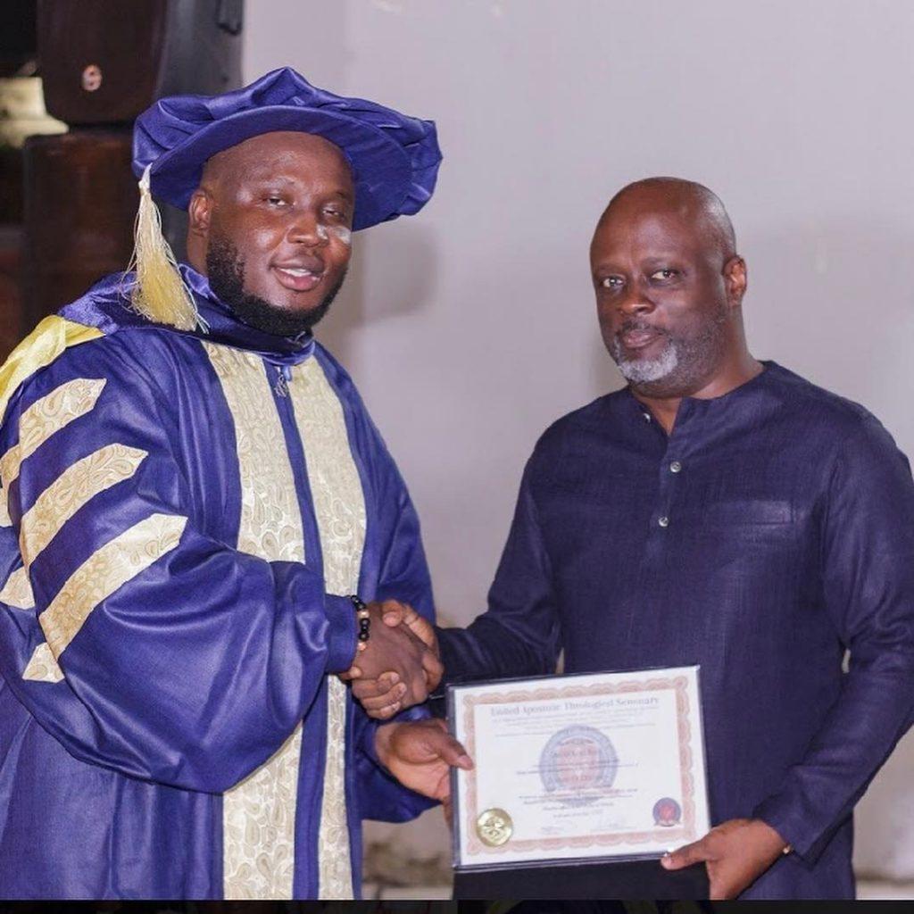 Photos: Music producer, Kaywa ordained minister of the gospel.
